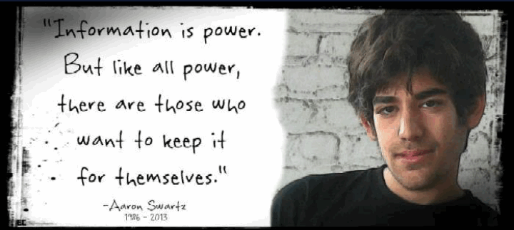 Information is power but like all power there are those who want to keep it for themselves