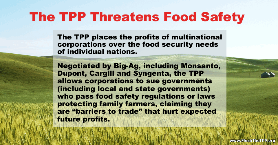 TPP Threatened Food Safety