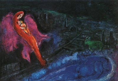 Bridges-Over-the-Seine-Marc-Chagall-1954
