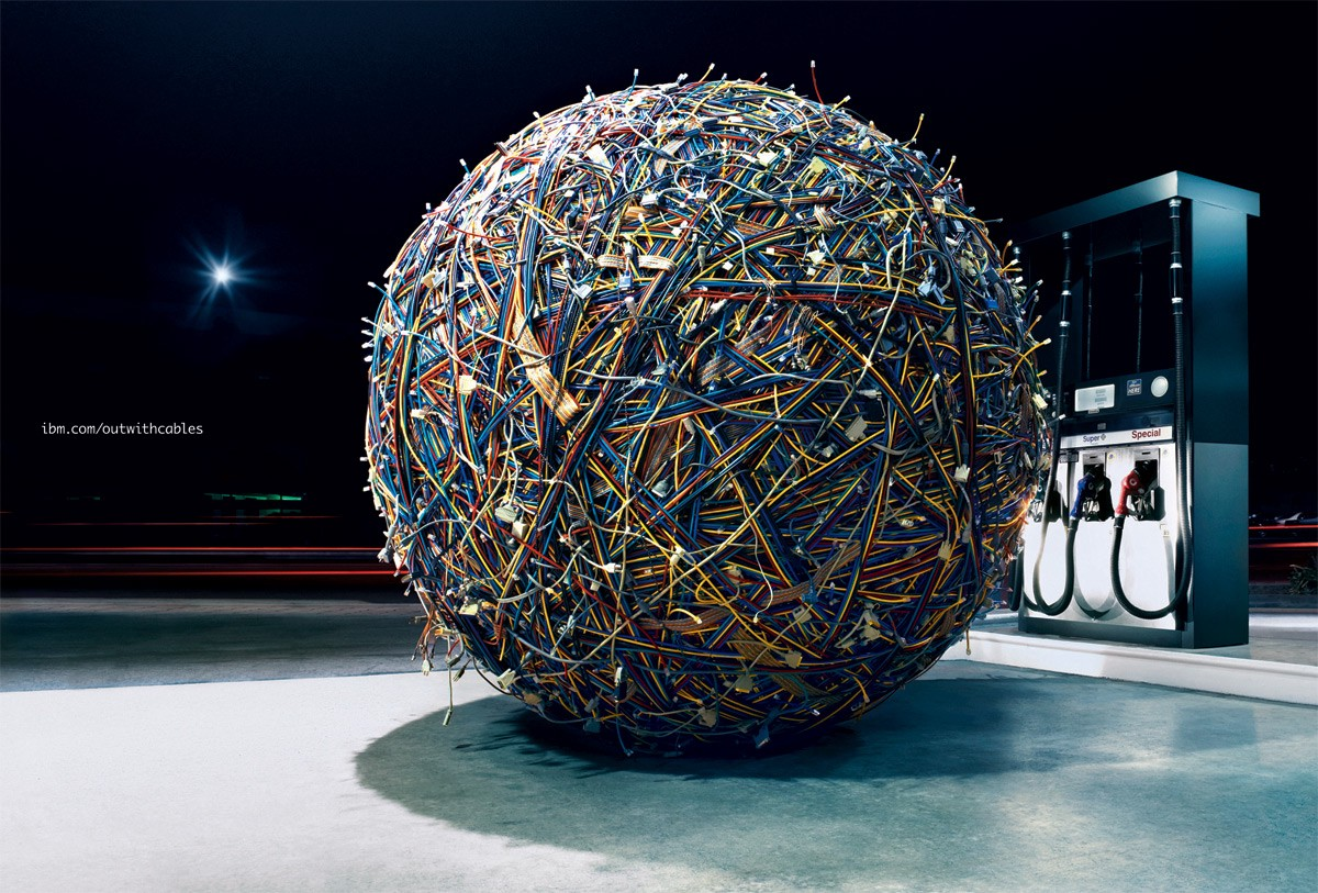 """IBM Cable Ball"" by David Lan. 2007. Cables."