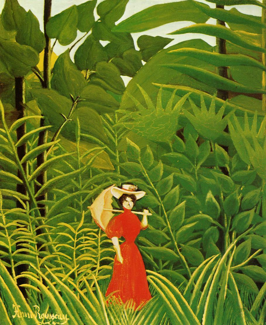 woman-in-red-in-the-forest-henri-rousseau